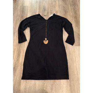 Black jersey lounge dress